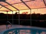 Sunrise over Cedar Lake.