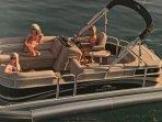 2012 Bennington Pontoon boat rental seats 11 people Plus 3 person tube