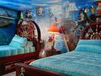 Kids love the pirate themed room