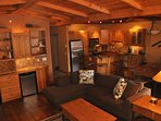Bar and Open Kitchen to living and dining area. Wonderful gathering space for your family or group.