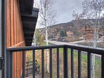 Check out your private mountain views from the master bedroom's balcony!