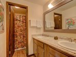 Guests can enjoy their own ensuite bathroom.