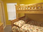 2nd bedroom with full and twin bunk beds