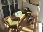 Comfortable seating on the deck