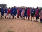 maasai on safari by our guests