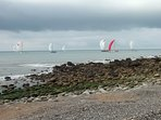 Yacht racing (from Woody Bay)