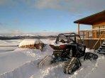 The Jim Bridger Rustic Cabin.  Winter in Wyoming!