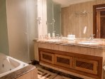 ensuite bathroom shower jacuzzi and bidet