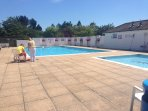 Heated outdoor pool open during the summer season.