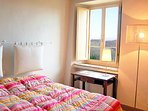 The second stylish double bedroom with views of the surrounding area