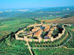 Amazing Monteriggioni is only a short drive away