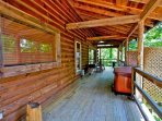 Spacious Porch with Rockers, Grill and Jacuzzi