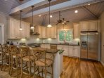 You're family will love gathering in this beautiful gourmet kitchen