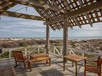 Listen to the waves crash from the exclusive Shoals Club Gazebo on the south end of Bald Head Island
