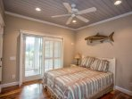Wake up to the sunshine and of course one of the many replica fish in Big Momma's Fish House