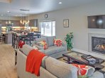 With stylish, high-end decor and plenty of open space, the open-concept living area is great for entertaining.