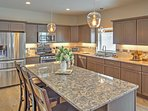 Prepare a hearty breakfast or delectable dinner in the fully equipped kitchen.