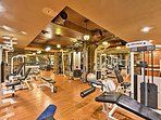 Stay fit in the resort's state-of-the-art fitness center.