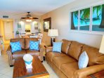 Bright condo with a view of the ocean in nearly every room!