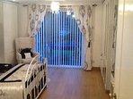 Bedroom 1 with Patio Doors