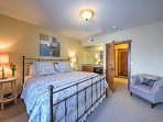 Both rooms have upscale linens and furnishings.