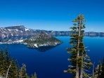 Gorgeous Crater Lake is a Popular Full-Day Trip, Over an Hour Away. Visit the Island by Boat.