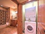 Utilize the in-unit laundry machines!