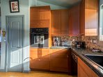 Large kitchen with every appliance you need to make a gourmet meal