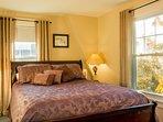 The Purple Room; queen bed.