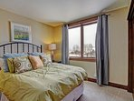 Guest bedroom 1  - Double bed with HD TV and access to guest bathroom.