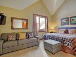 Master Bedroom  - Features king bed, HD TV, & sofa sleeper.  Private master bathroom.