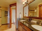 Master Bathroom  - Double sinks and walk in shower.  Walk in closet.