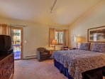 Master Suite - Features own TV & DVD player and private deck.