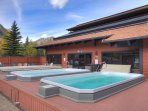 Three Outdoor Hot Tubs! - Condo features clubhouse with outdoor hot tubs, just steps from the condo.