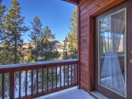 Private deck off master bedroom  - Beautiful winter views.