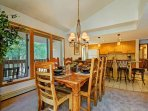 Dining area with views - Newer dining room table that seats 6.  Enjoy stunning views from the dining area.