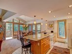 Kitchen Island - Open living concept.