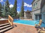 Outdoor hot tub & pool