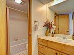 Guest bathroom - Full bathroom with tub/shower combo.