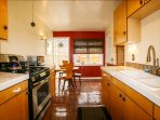 Fully Equipped Kitchen: microwave, coffee maker, blender,