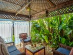 Tropical Canana ~ surround curtains for added privacy