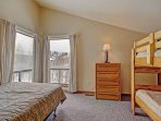 Guest Bedroom 2 - Double bed and two twin beds.  Located on top floor.