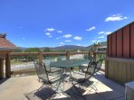 Private deck with stunning views - Enjoy the views of Lake Dillon and Mountains from private deck.