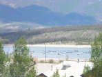 Gorgeous lake & mountain views form deck. - Stunning views of Lake Dillon and the mountains.