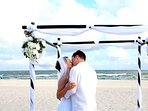 no charge for Weddings on the beach. Other complexes  charge $500