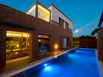 Award-winning 6 bedroom detached villas with heated pools, ideal for 2 families