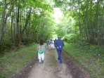 A wide range of woodland, river and farmland tracks for walking and cycling.