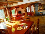 Spacious dining and living rooms