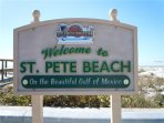 St Pete Beach always welcomes their visiting guests!