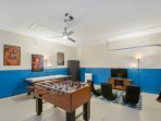 Kids and adults alike will love spending time together in the game room!